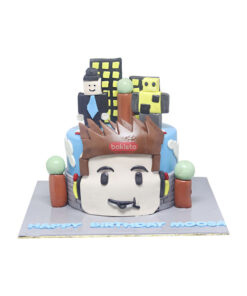 Roblox Theme Cake by bakisto