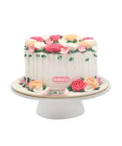 flowers cake with path