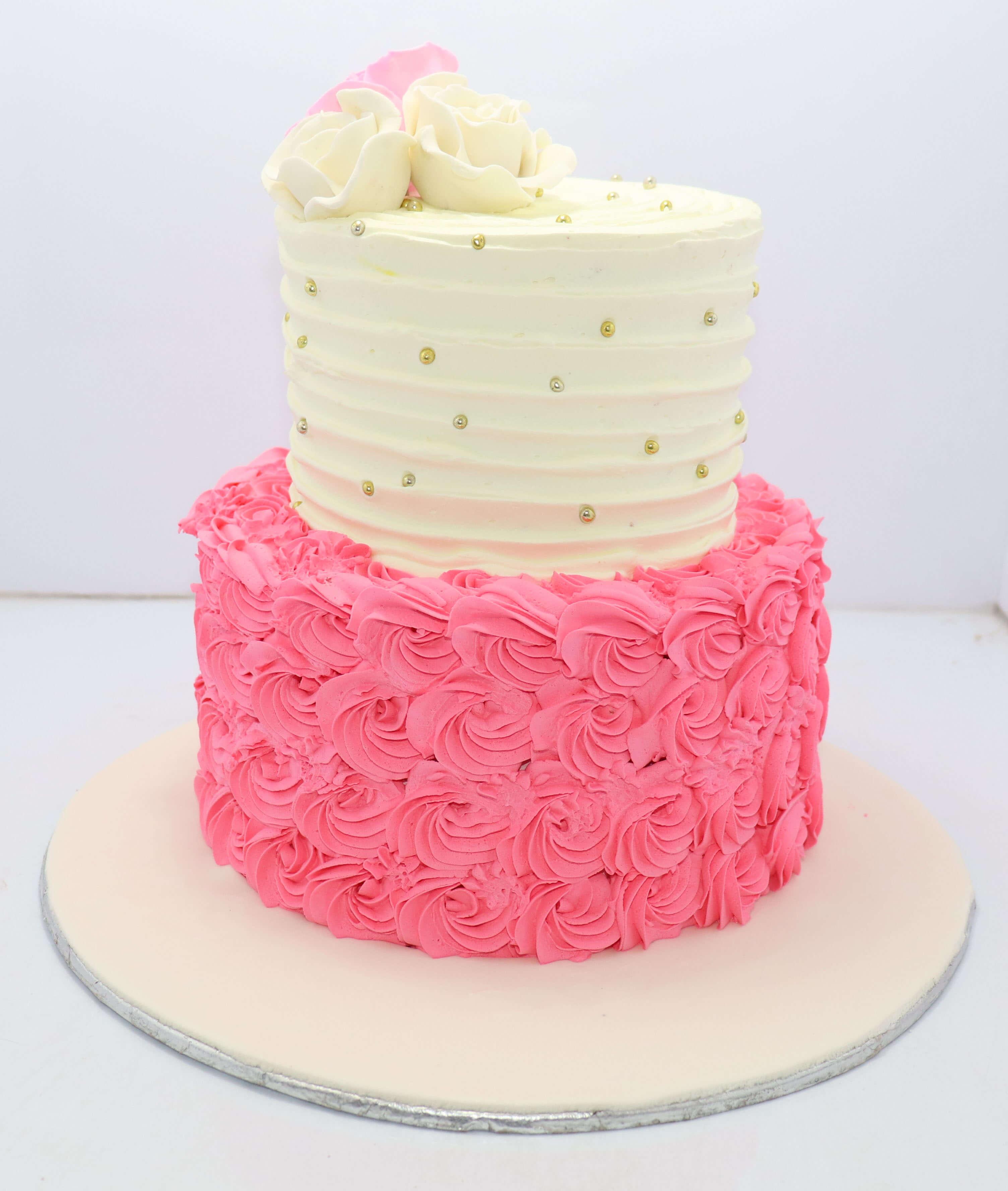 Amazing Pink Flowers Girls Birthday Cake Bakisto Pk Lahore Free Delivery Personalised Birthday Cards Beptaeletsinfo