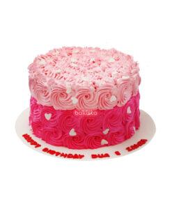 light and dark pink cake