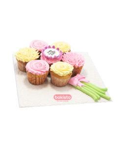 girls theme cupcake