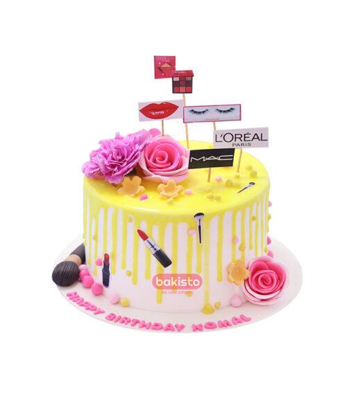 makeup cake by bakisto - the cake company