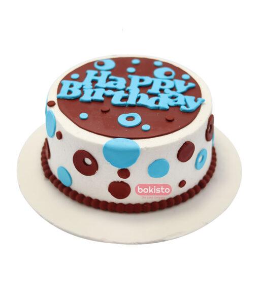 Blue & Brown Birthday Cake