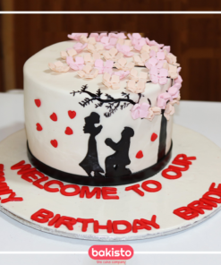 Tree with Hearts Anniversary Cake in Lahore