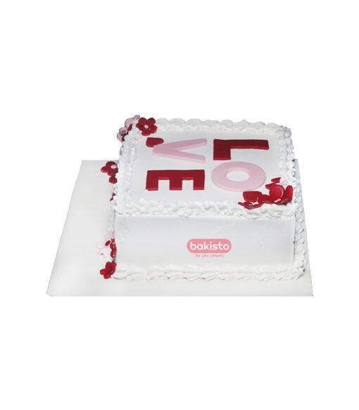 Love Anniversary cake