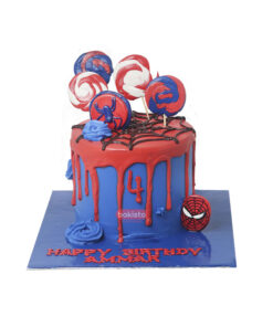 spider man cake by bakisto.pk