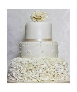 3 Tier Wedding Choco Vanilla Cake