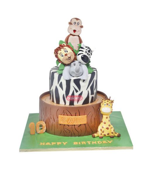 Zoo Character Cake by bakisto.pk