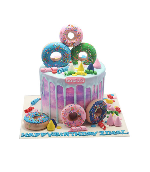 Donuts Theme Cake by bakisto