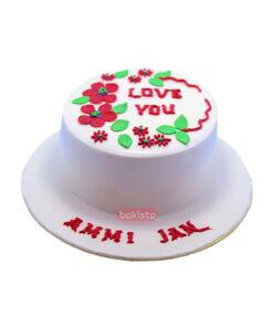 Love you mom cake by bakisto