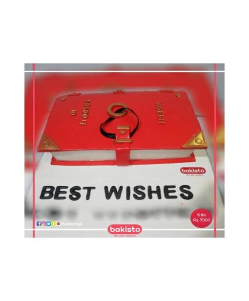 Best Wishes Book Cake