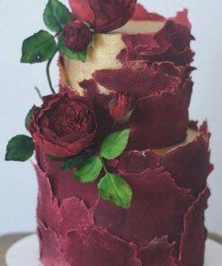 Red Rose Nikkah Cake