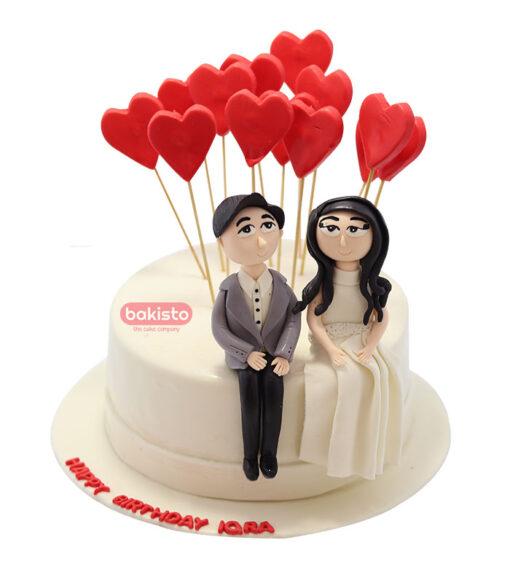 elegant couple cake