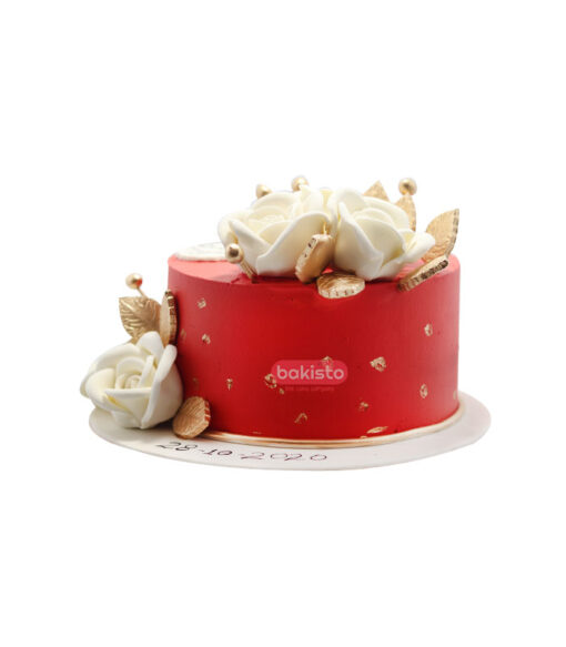 red nikkah cake, online cake delivery
