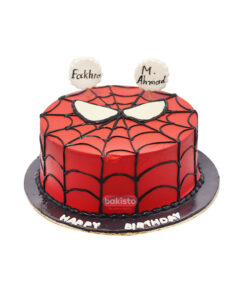 Spiderman theme cake by bakisto