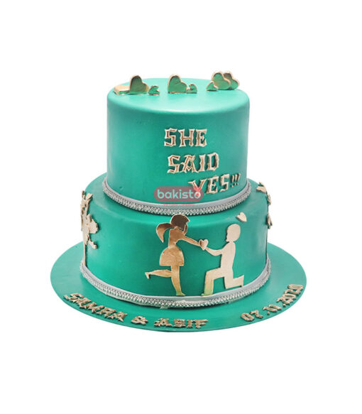 engagement cake, online cake delivery in lahore