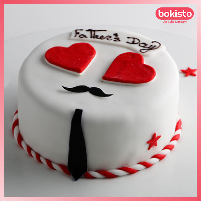 Red Heart Father Day Cake