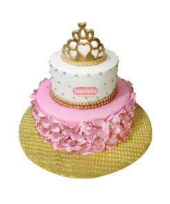 pink baby princess cake, deliver in lahore