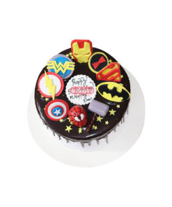 avengers cake by bakisto, online cake delivery in lahore