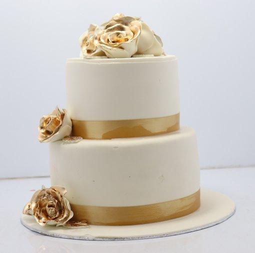 Two Tire Wedding Cake