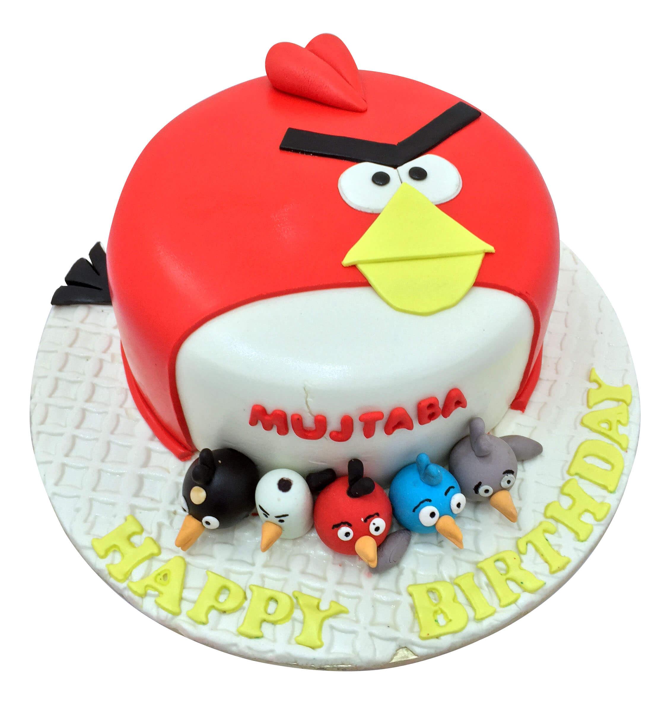 Awesome Angry Bird Birthday Cake Angry Bird Homemade Birthday Cakes Funny Birthday Cards Online Overcheapnameinfo