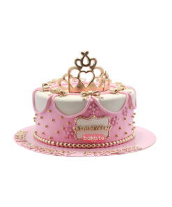 crown theme girls cake , online cake delivery in lahore