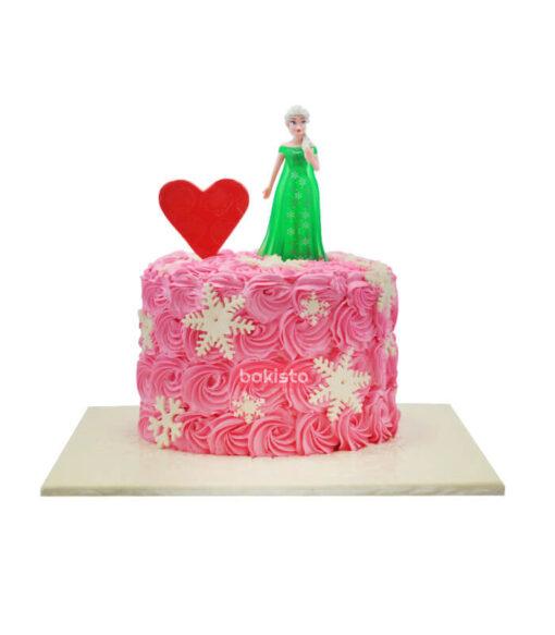frozen theme cake by bakisto