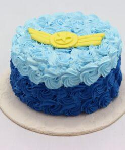 Elegant Blue Cream Cake