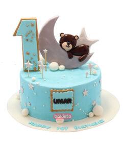 first year boy cake