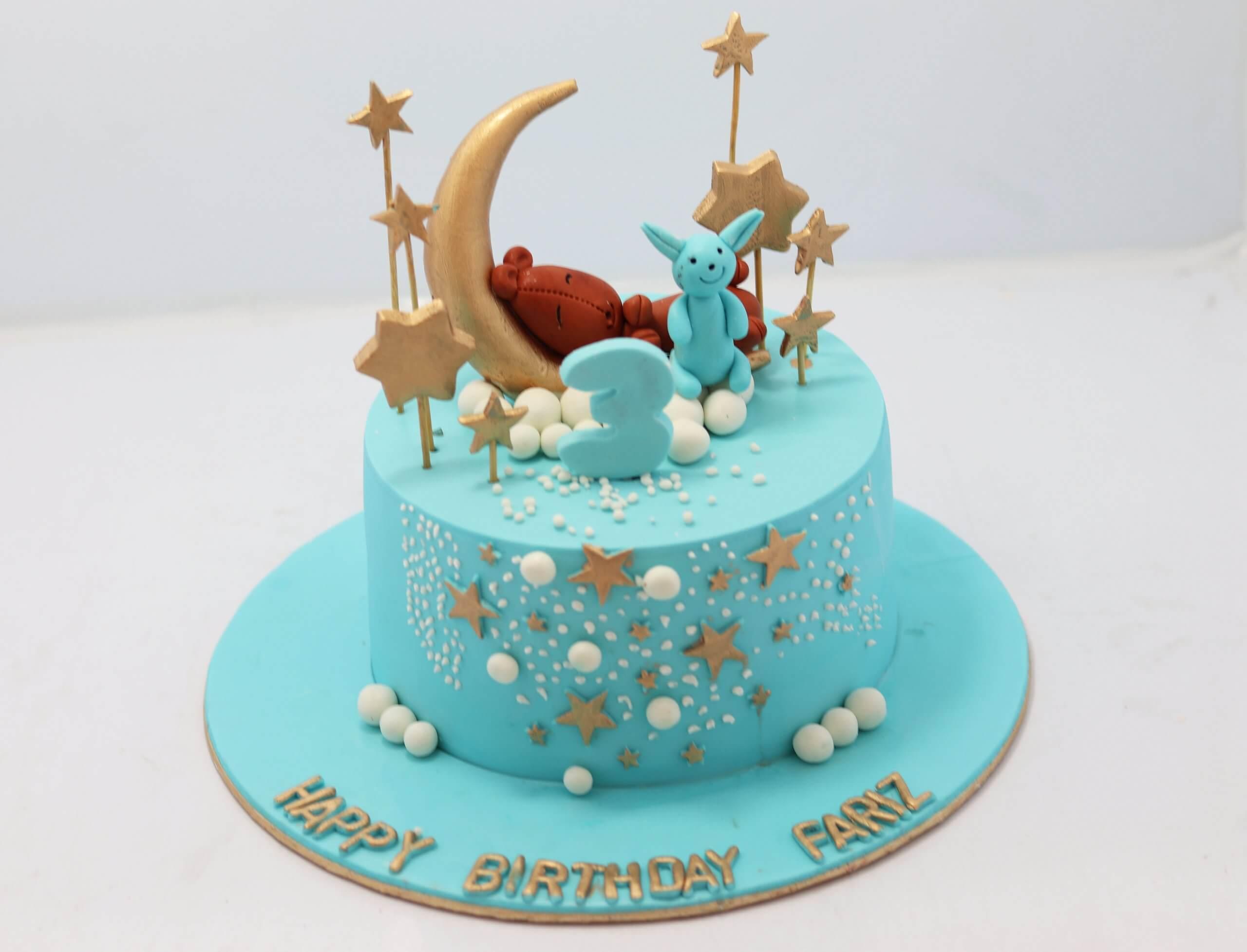 Brilliant Twinkle Star Birthday Cake Little Baby 3Rd Birthday Cake Personalised Birthday Cards Veneteletsinfo