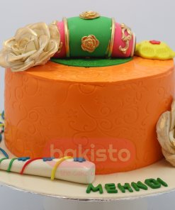 Mehndi Cake Bridal Bakisto