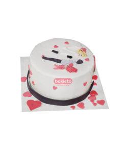 valentine's day cake, love birds cake