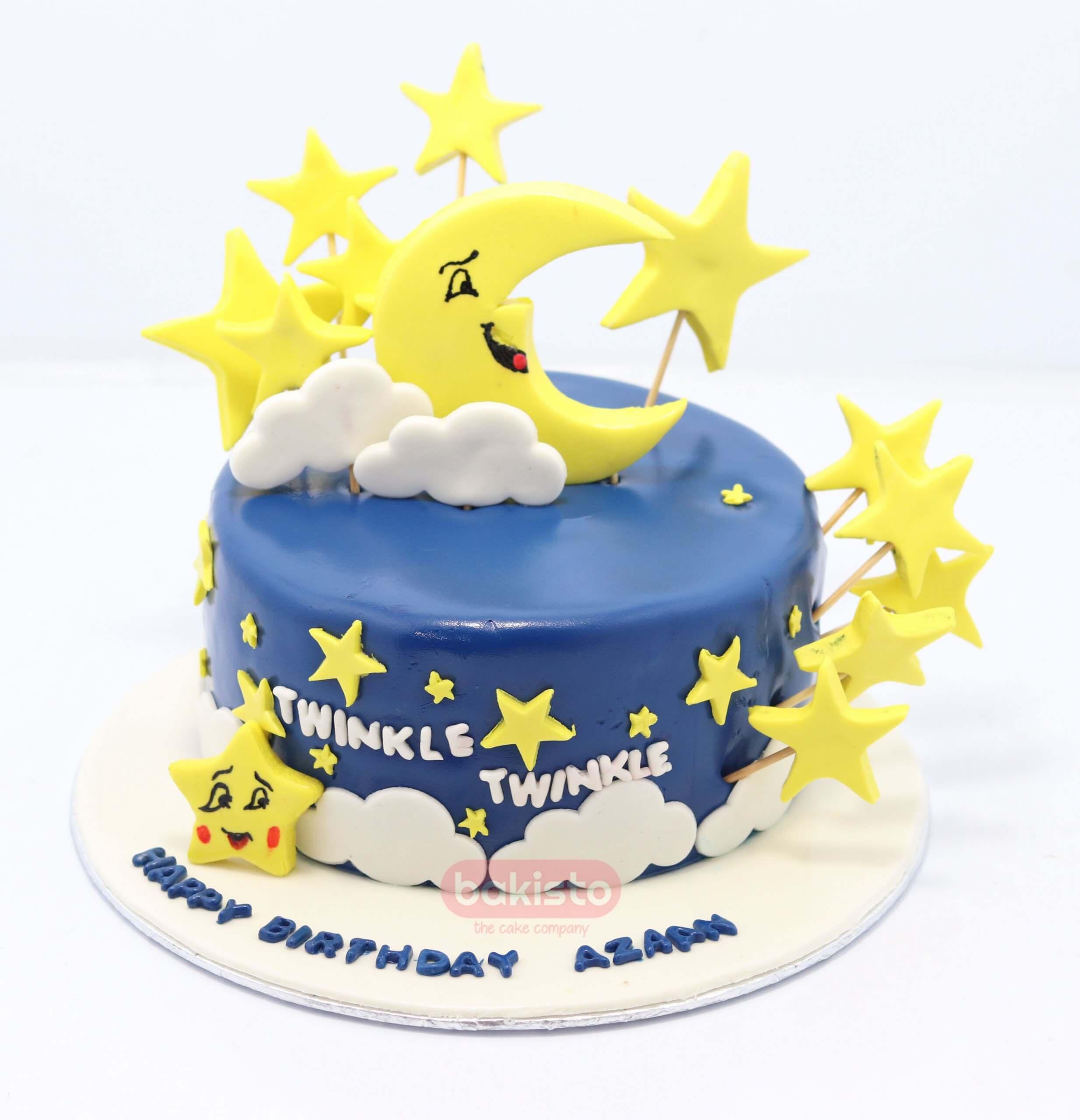 Pleasant Customized Twinkle Star Birthday Cake By Bakisto The Cake Company Personalised Birthday Cards Veneteletsinfo