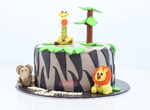 Zoo Birthday Cake