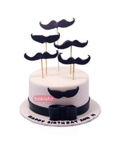 mustaches Cake by bakisto.pk
