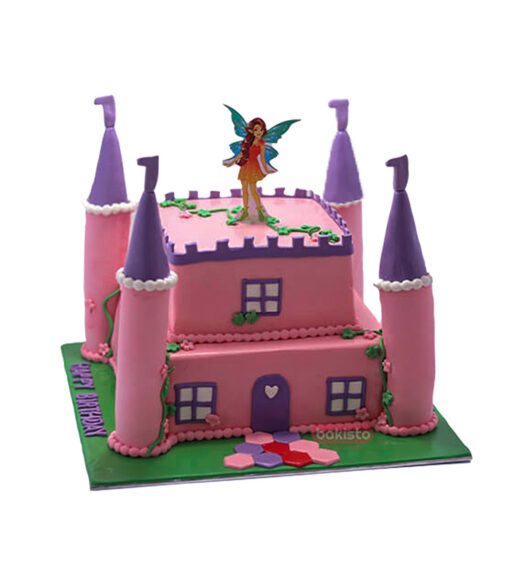 Fairy theme birthday cake