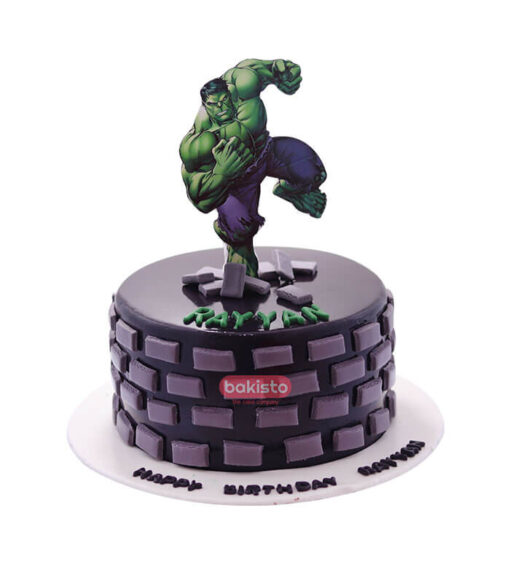 hulk cake by bakisto, online cake delivery in lahore
