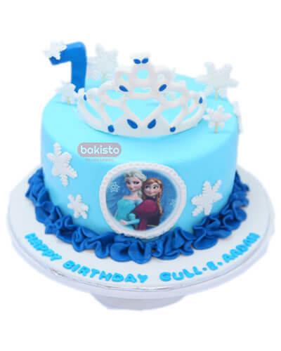 crown elsa cake