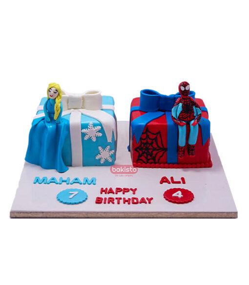 multi theme cake by bakisto
