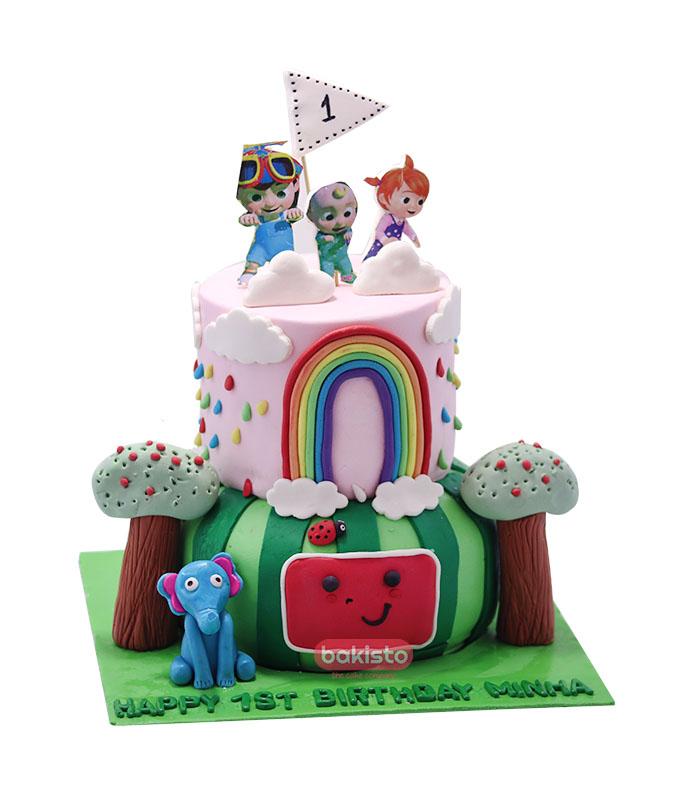 coco melon cake, send kids cake to lahore