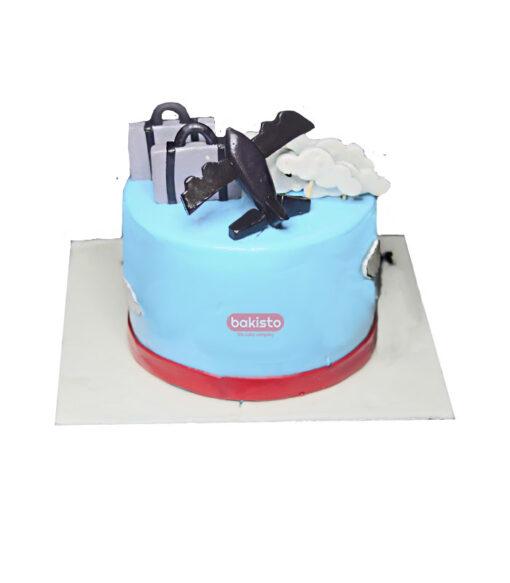 world map birthday cake
