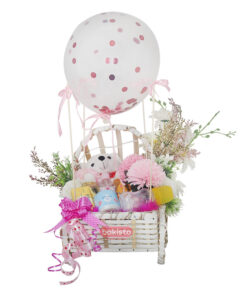 it's a girl baby basket