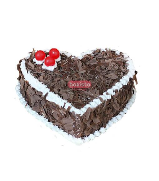 black forest heart cake