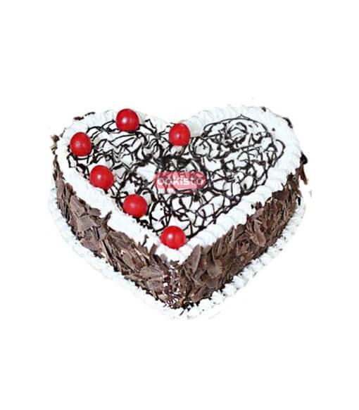 heart black forest cake