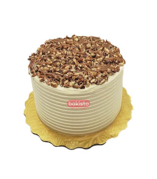 caramel crunch walnuts cake