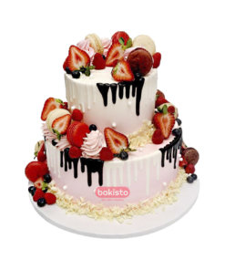 Two Tier Fruity Delight Cake