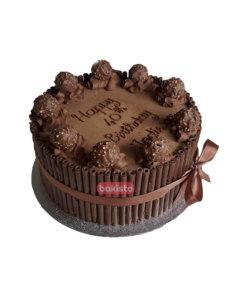 Ferrero rocher with chocolate stick