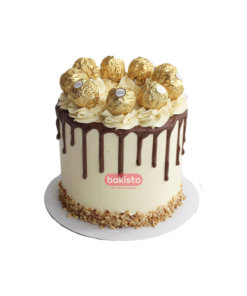 White Ferrero Rocher Cake