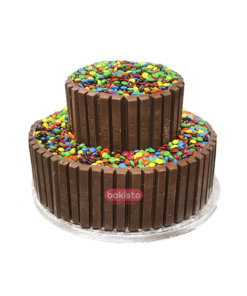 two tier kitkat cake