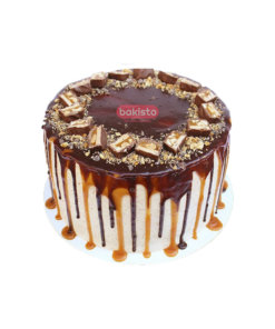 Snickers with caramel dripping